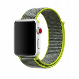 TECH-PROTECT NYLON APPLE WATCH 1/2/3/4 (42/44MM) LIME/GREY
