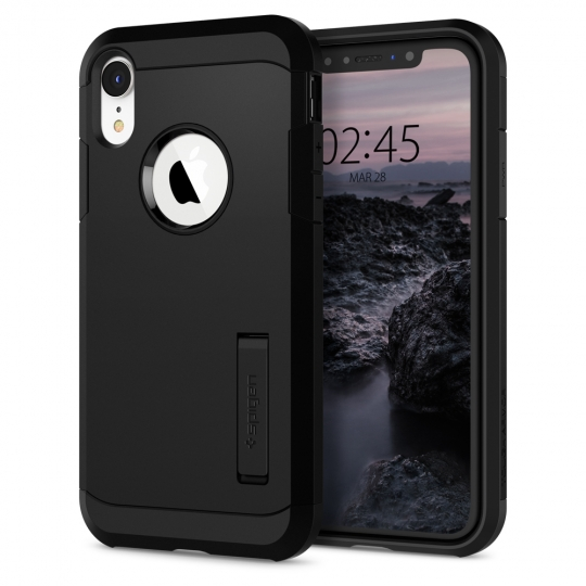 ETUI SPIGEN TOUGH ARMOR IPHONE XR BLACK