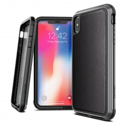 X-DORIA DEFENSE LUX IPHONE X/XS BLACK LEATHER