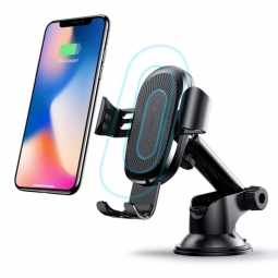 BASEUS GRAVITY DASH CAR MOUNT WIRELESS CHARGER BLACK
