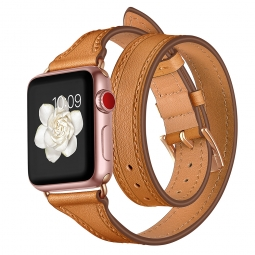 TECH-PROTECT LONGCHARM APPLE WATCH 1/2/3/4 (42/44MM) BROWN/GOLD
