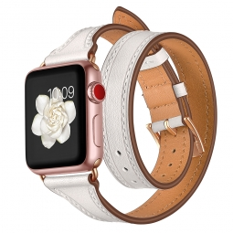 TECH-PROTECT LONGCHARM APPLE WATCH 1/2/3/4 (42/44MM) WHITE/GOLD