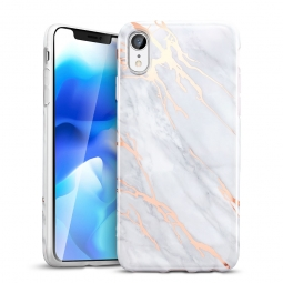 ESR MARBLE IPHONE XR GREY/GOLD